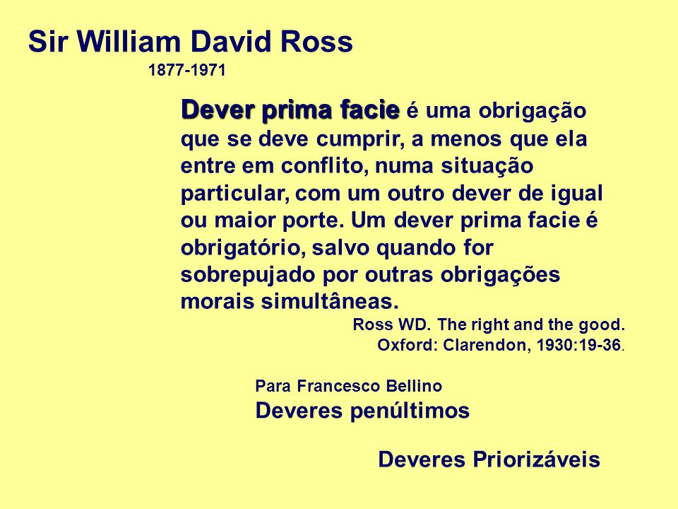 Sir William David Ross 1877-1971