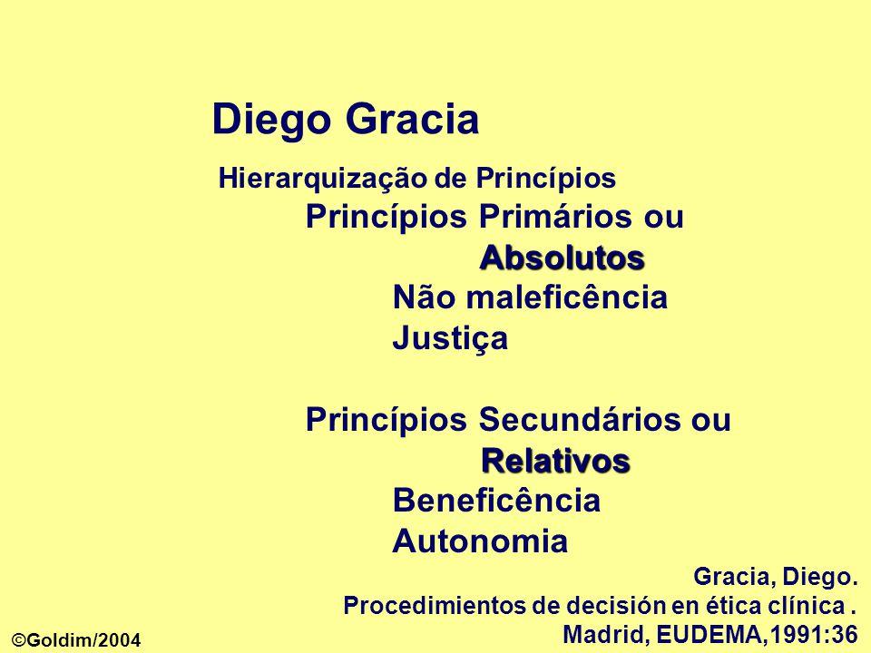 Diego Gracia Princípios Primários ou Absolutos Não maleficência