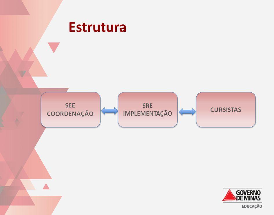 Estrutura SEE COORDENAÇÃO SRE IMPLEMENTAÇÃO CURSISTAS