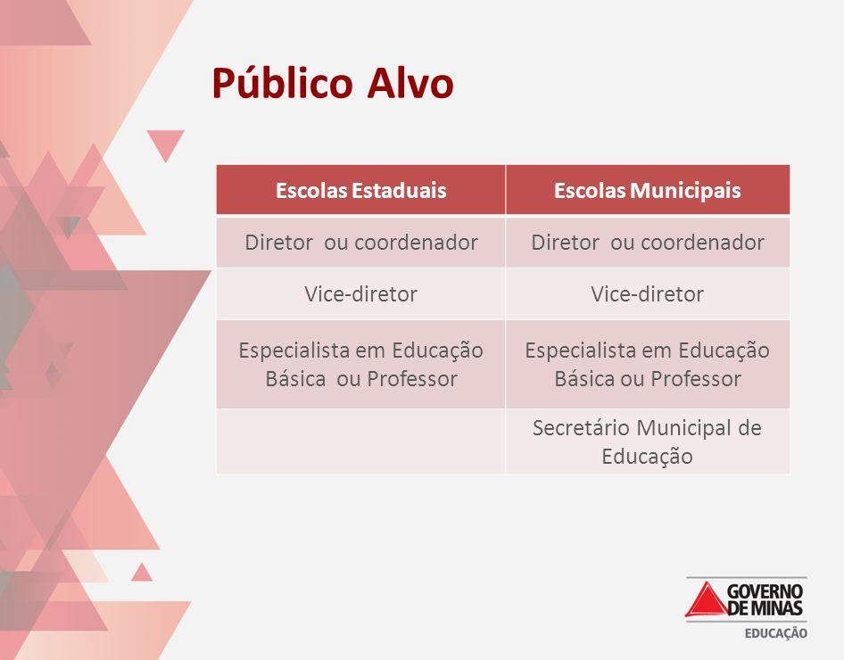 Público Alvo Escolas Estaduais Escolas Municipais