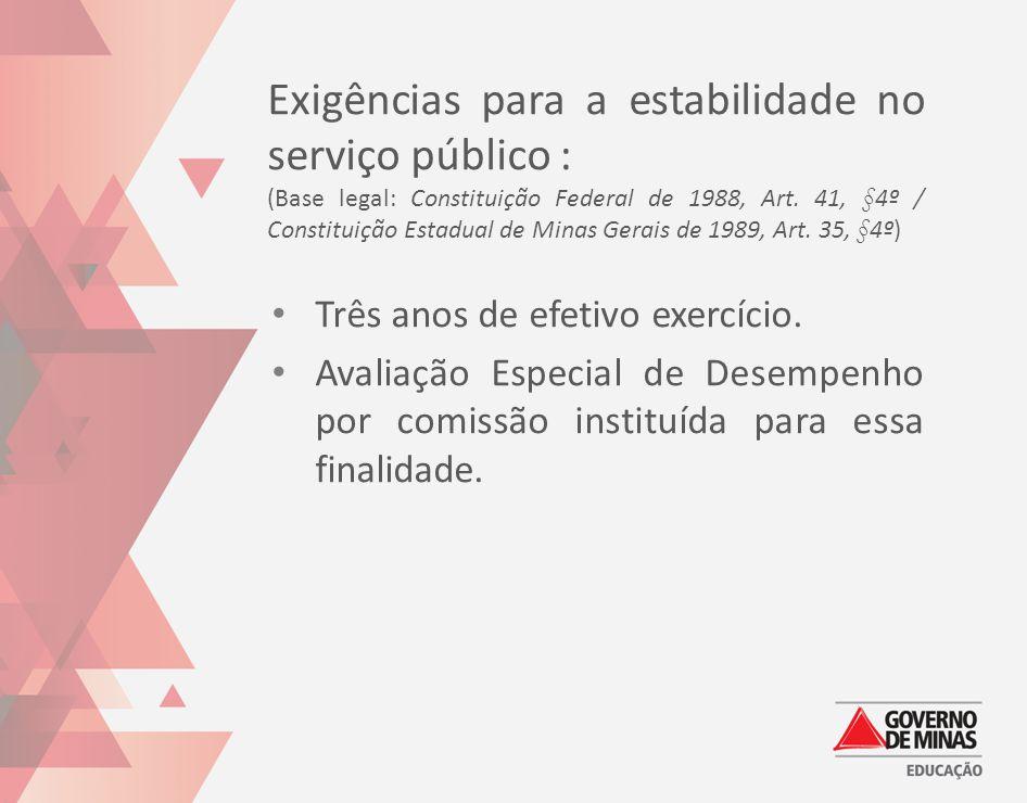 Exigências para a estabilidade no serviço público :