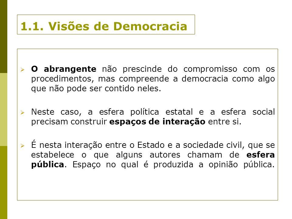 1.1. Visões de Democracia