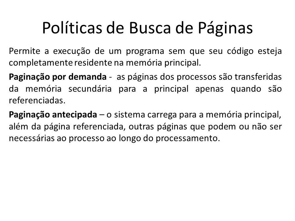 Políticas de Busca de Páginas