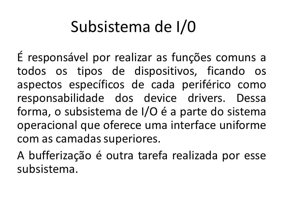 Subsistema de I/0