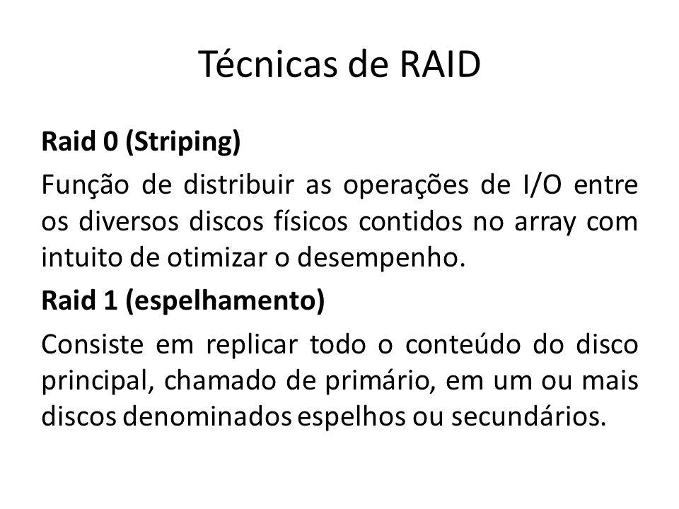 Técnicas de RAID