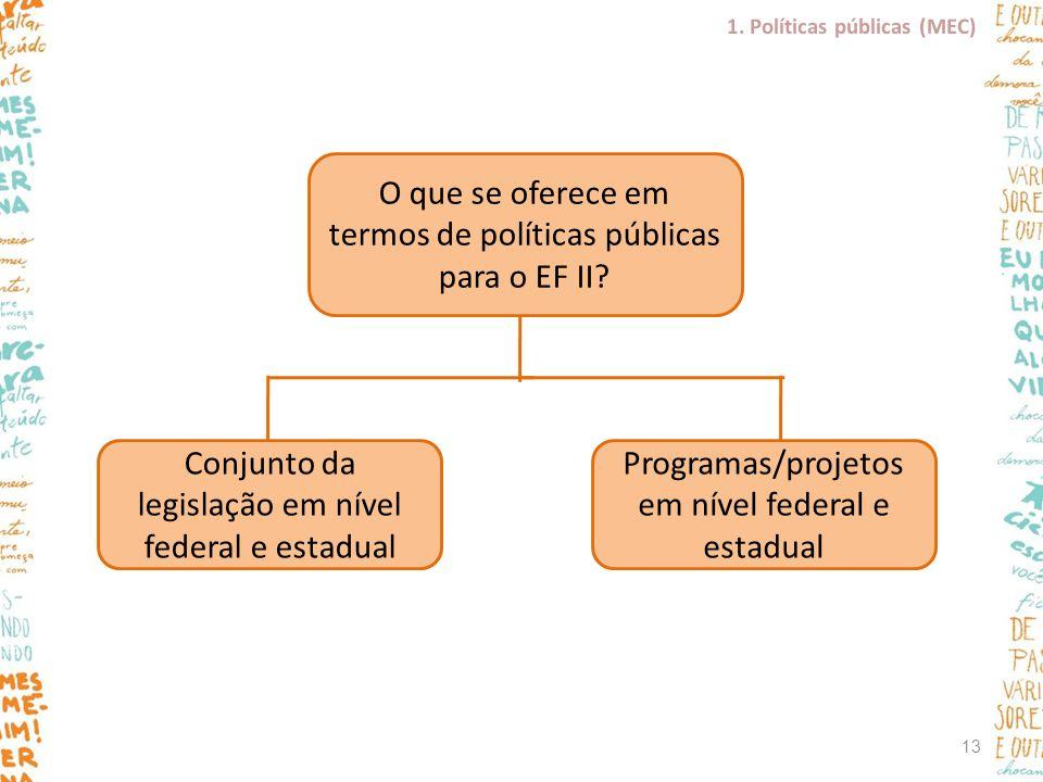 O que se oferece em termos de políticas públicas para o EF II