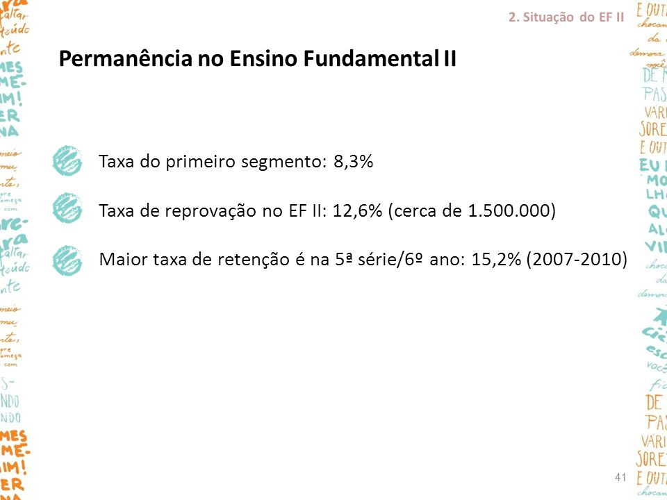 Permanência no Ensino Fundamental II