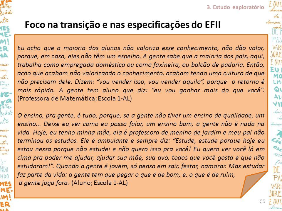 Foco na transição e nas especificações do EFII