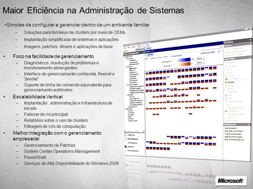 Maior Eficiência na Administração de Sistemas
