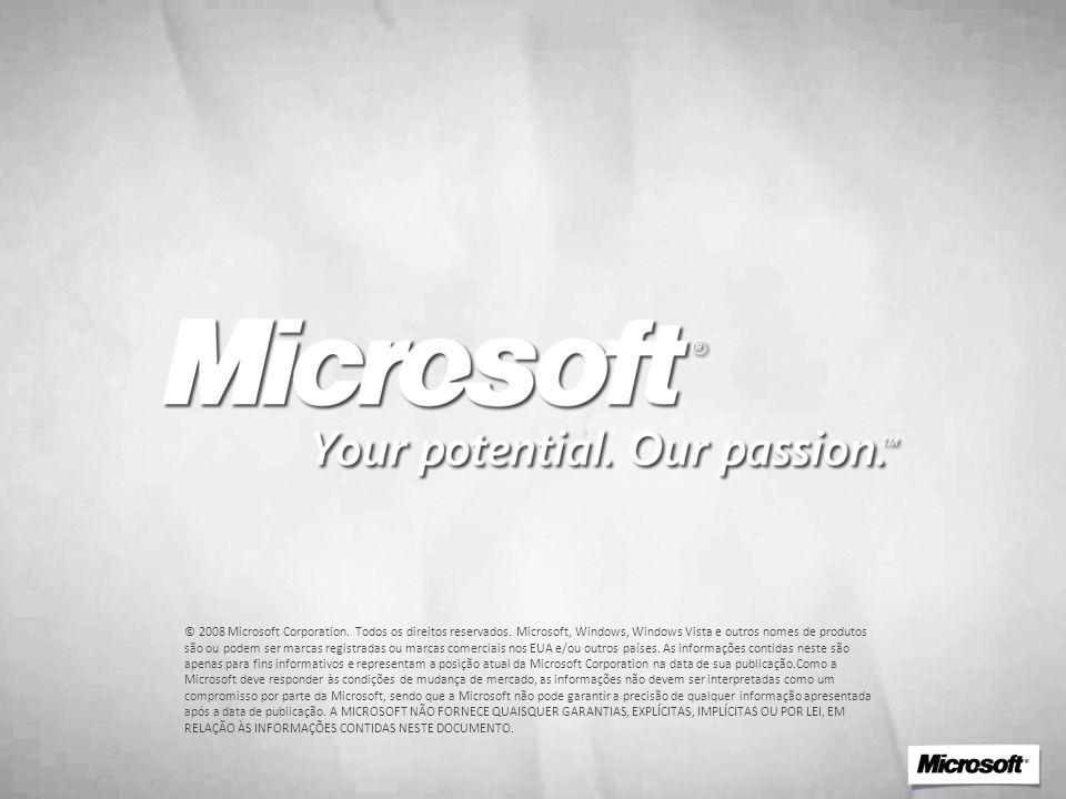 © 2008 Microsoft Corporation. Todos os direitos reservados