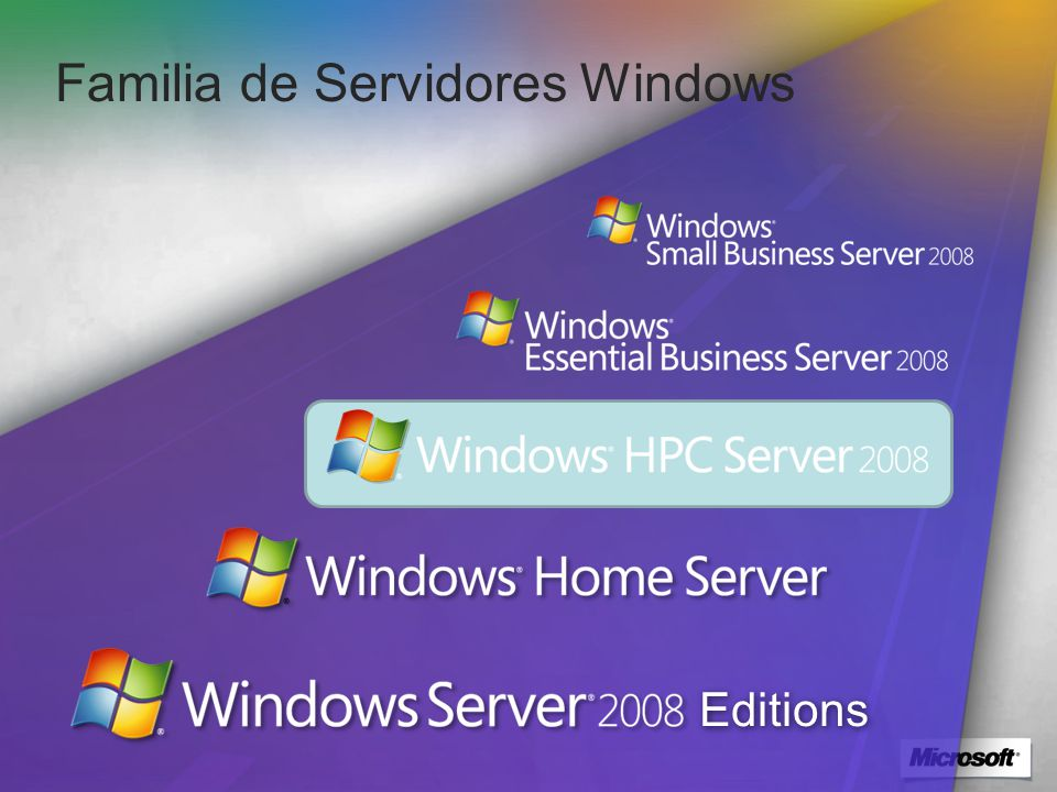 Familia de Servidores Windows