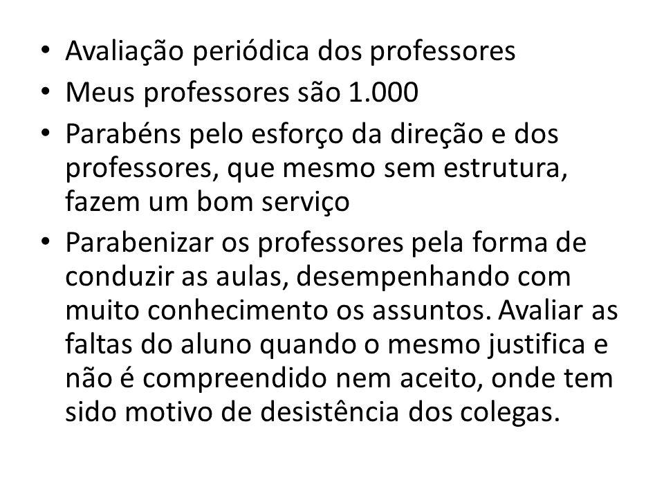 Avaliação periódica dos professores