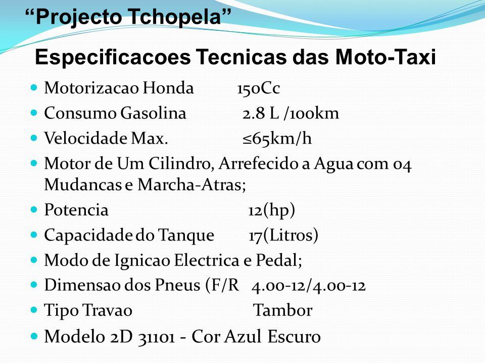 Projecto Tchopela Especificacoes Tecnicas das Moto-Taxi
