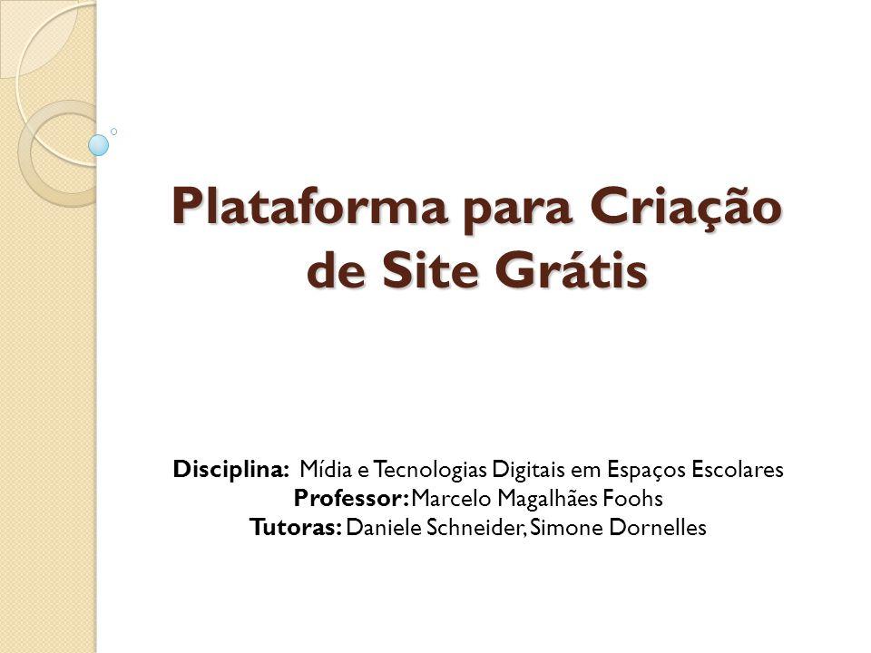 Plataforma para Criação de Site Grátis