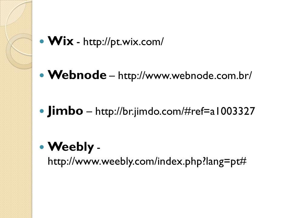 Wix - http://pt.wix.com/