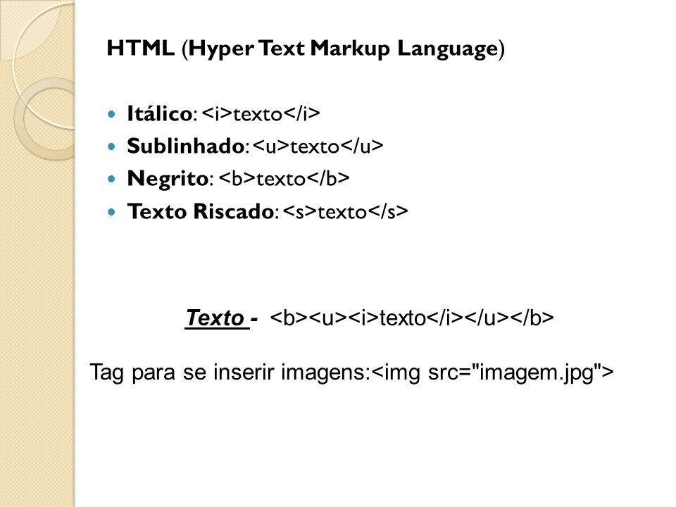 Texto - <b><u><i>texto</i></u></b>