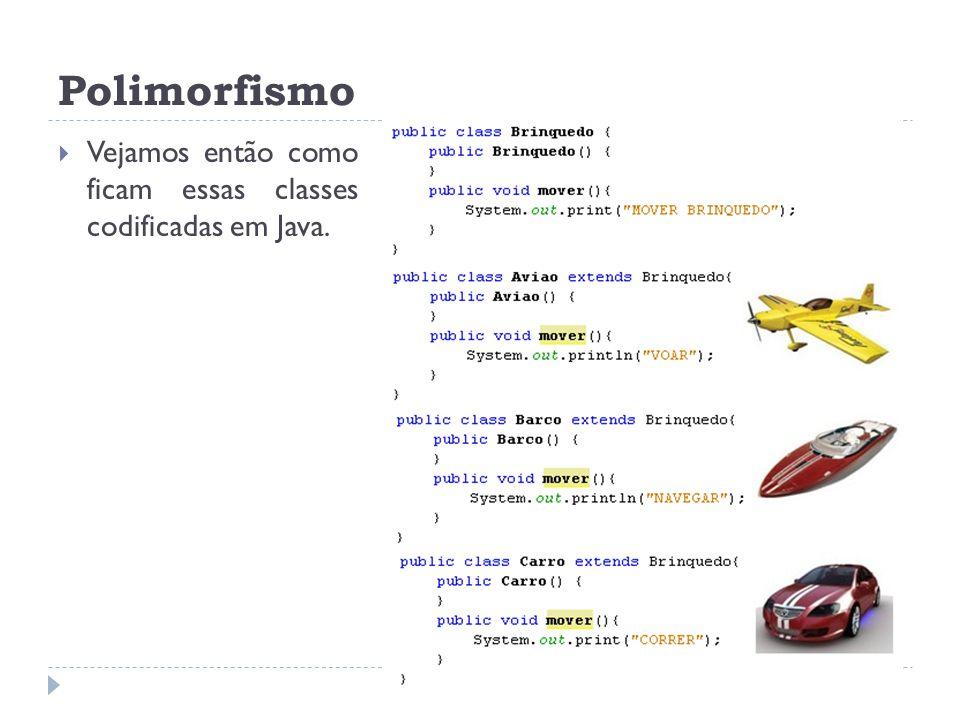 Polimorfismo Vejamos então como ficam essas classes codificadas em Java.