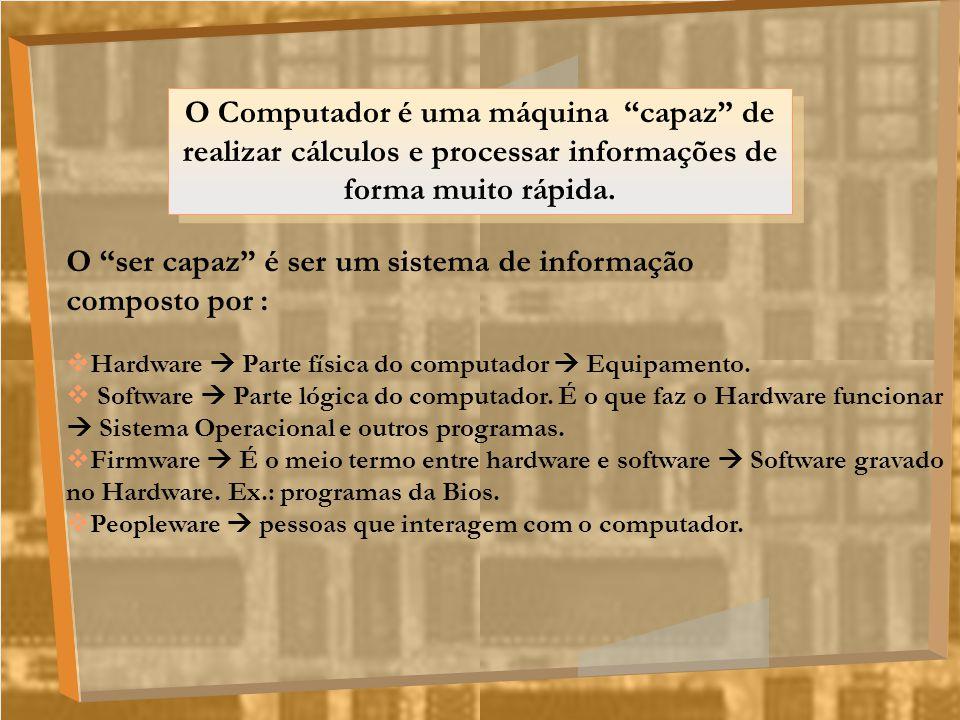 O ser capaz é ser um sistema de informação composto por :