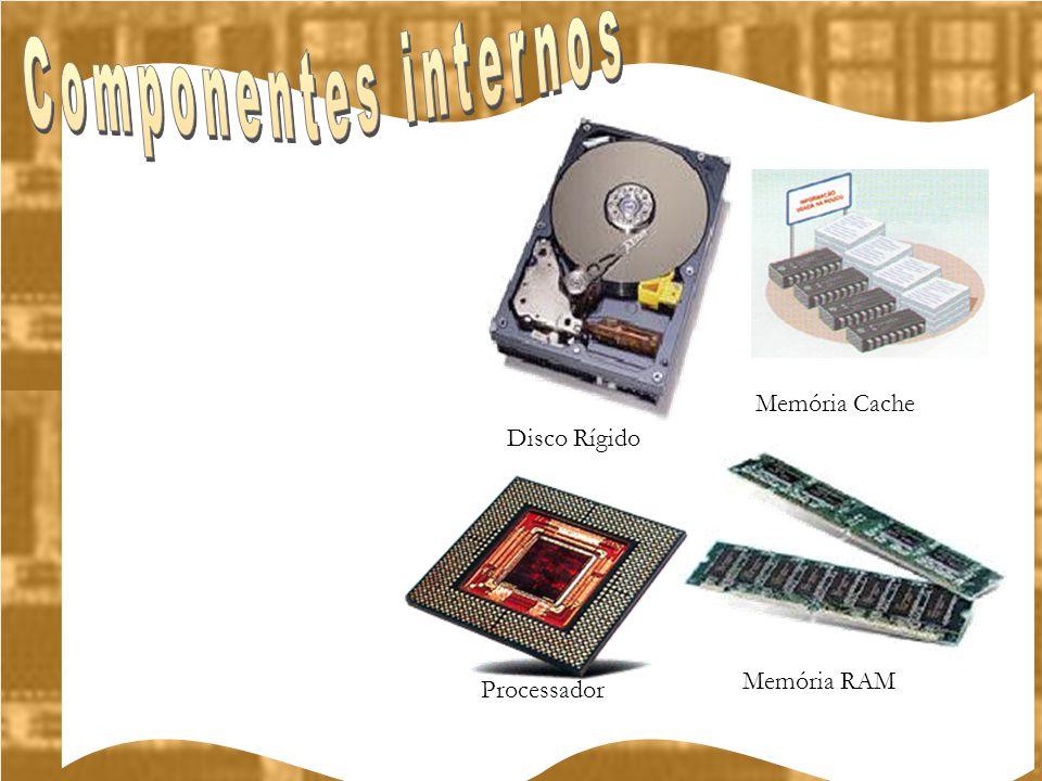 Componentes internos Memória Cache Disco Rígido Memória RAM