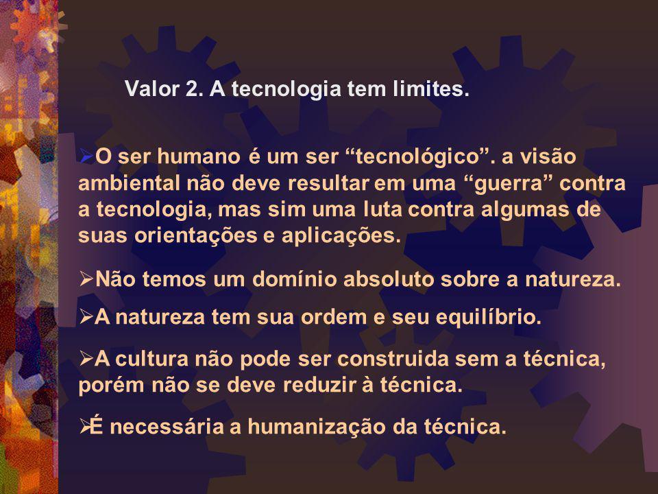 Valor 2. A tecnologia tem limites.