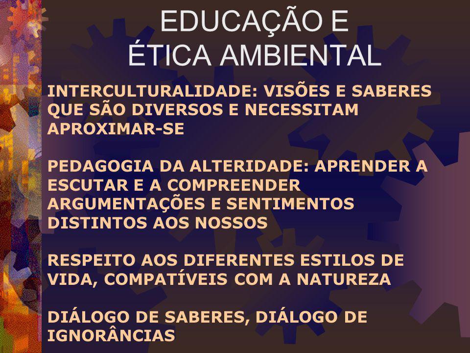 EDUCAÇÃO E ÉTICA AMBIENTAL