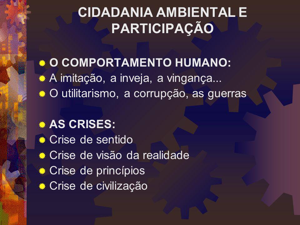 CIDADANIA AMBIENTAL E PARTICIPAÇÃO