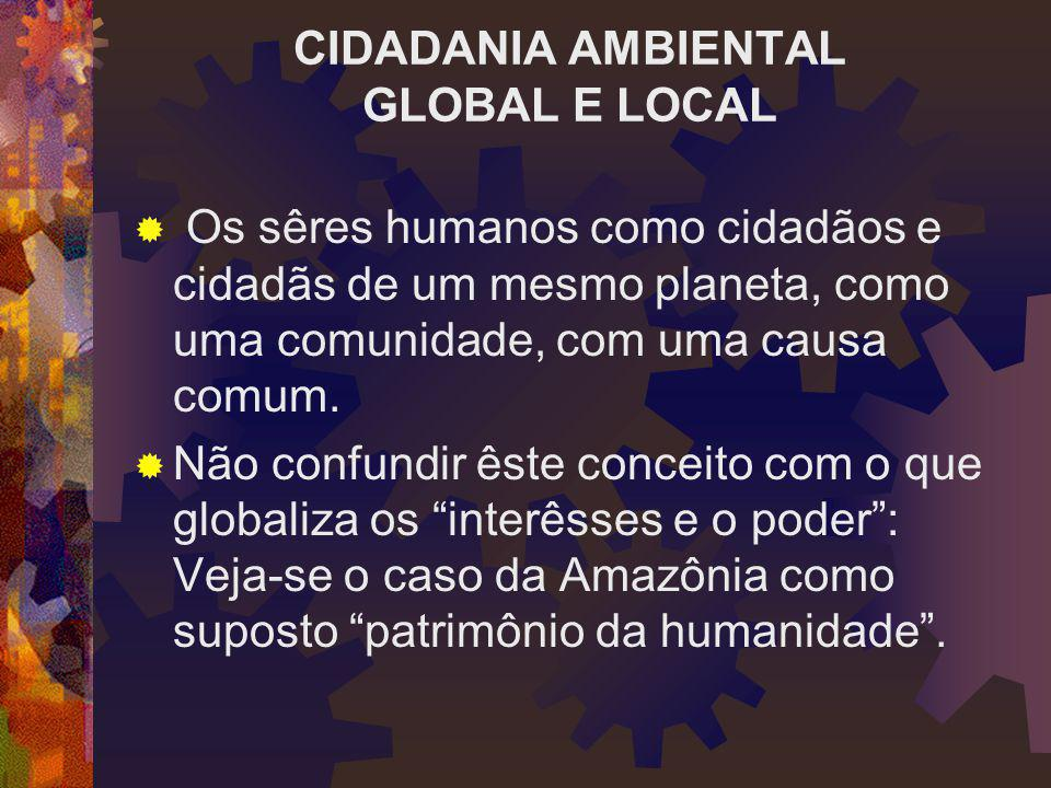CIDADANIA AMBIENTAL GLOBAL E LOCAL