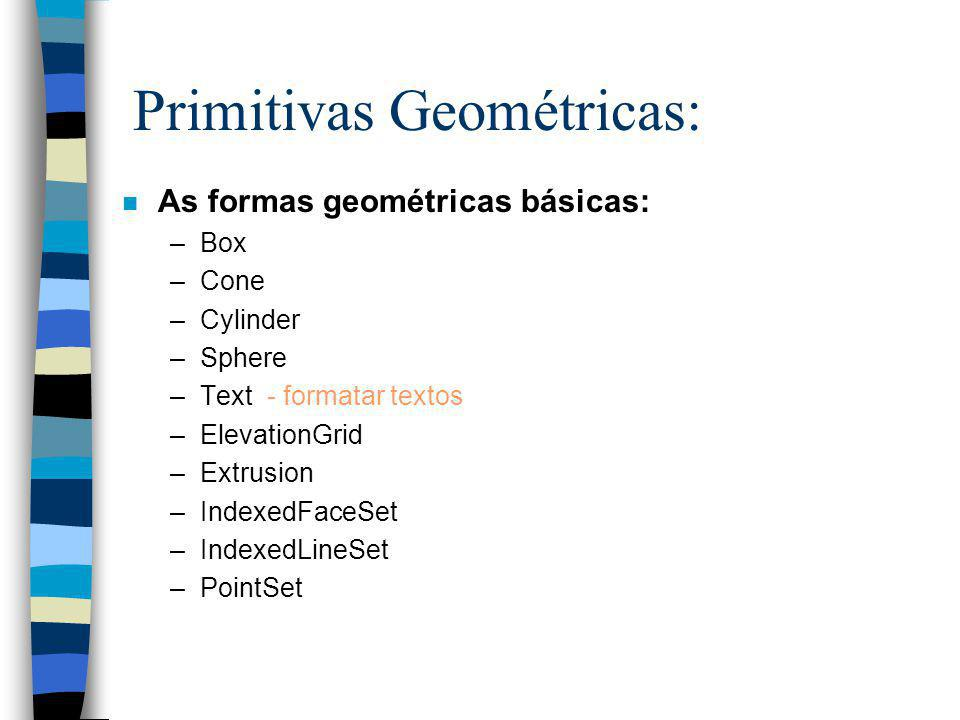 Primitivas Geométricas: