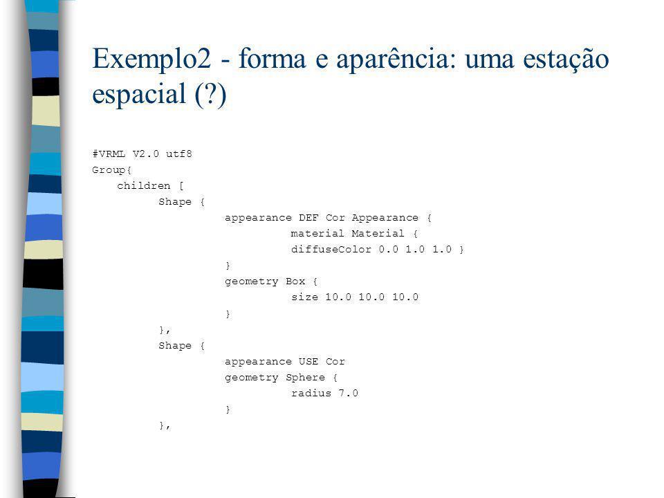 Exemplo2 - forma e aparência: uma estação espacial ( )