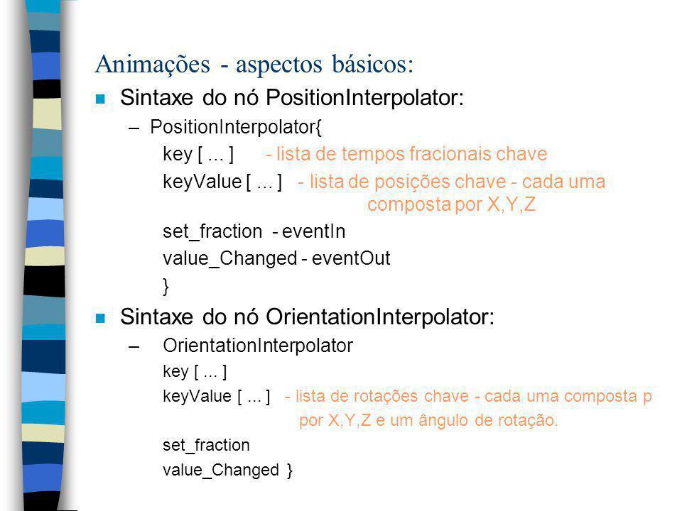 Animações - aspectos básicos: