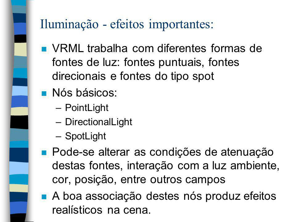 Iluminação - efeitos importantes: