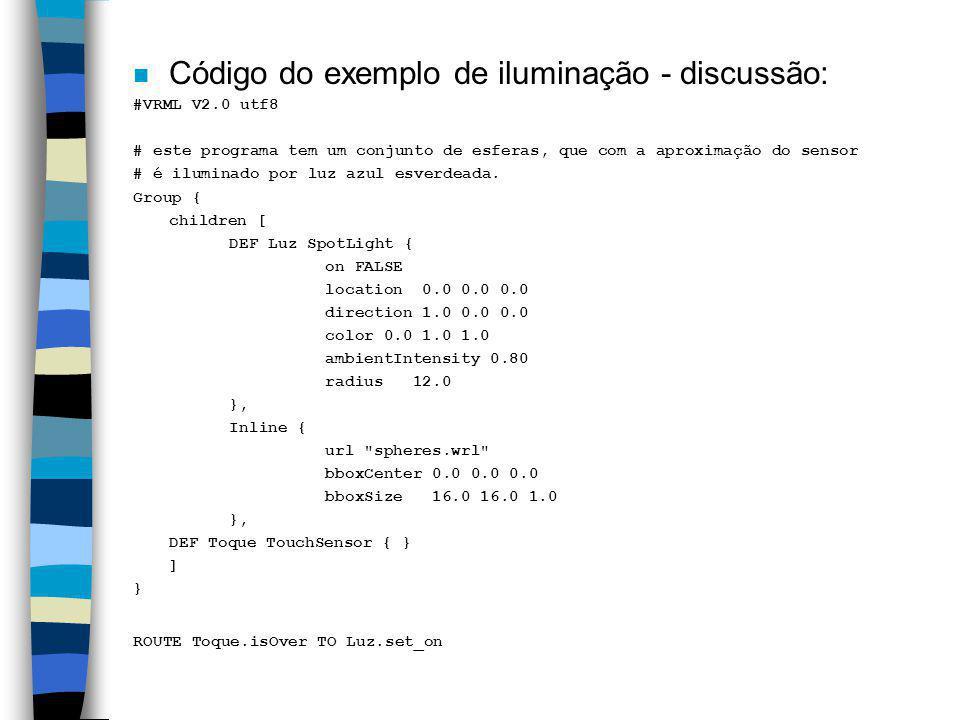 Código do exemplo de iluminação - discussão: