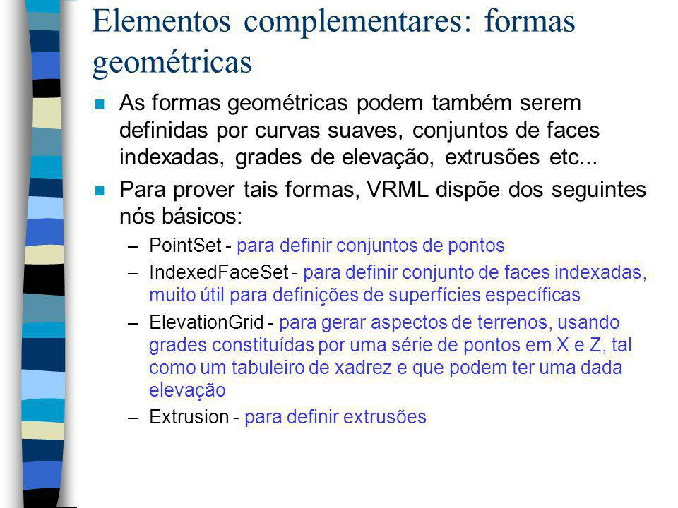 Elementos complementares: formas geométricas