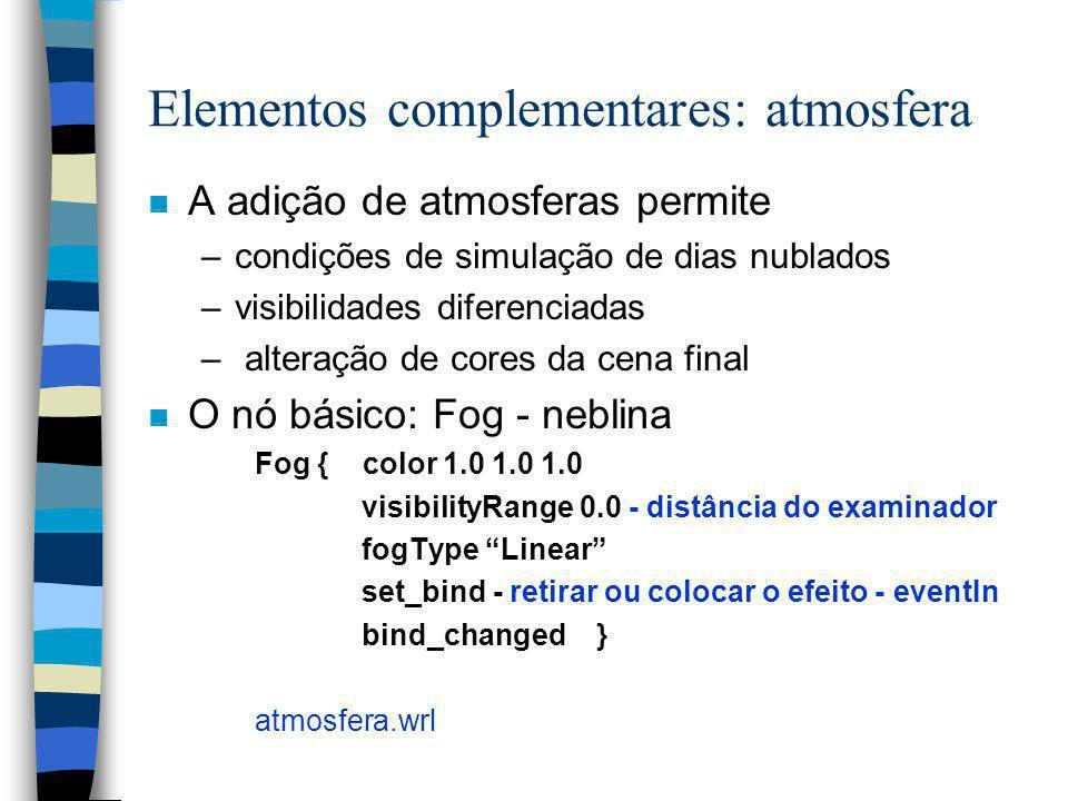 Elementos complementares: atmosfera