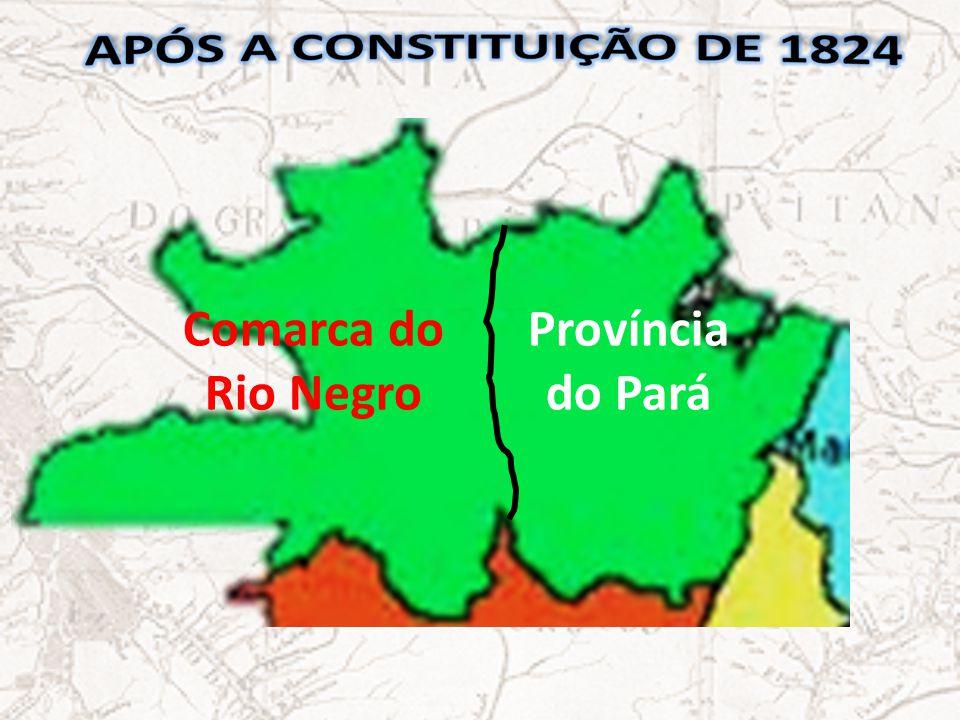 Após a constituição de 1824 Comarca do Rio Negro Província do Pará