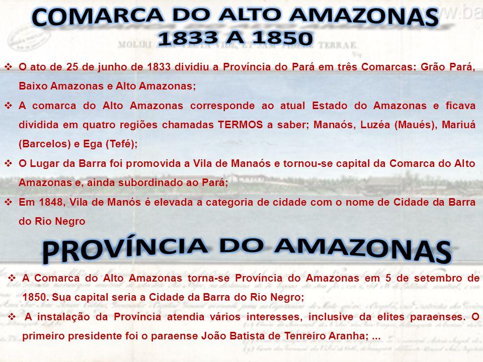 Comarca do alto amazonas 1833 a 1850