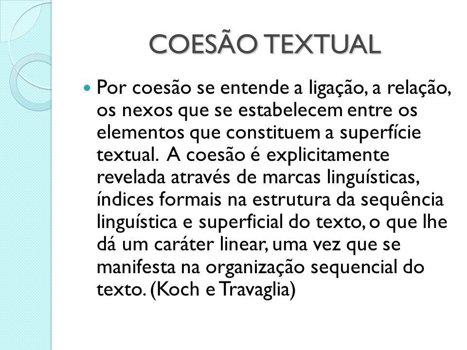 COESÃO TEXTUAL