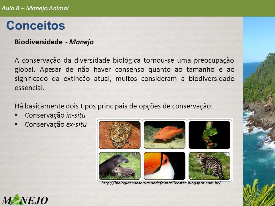 Conceitos Biodiversidade - Manejo