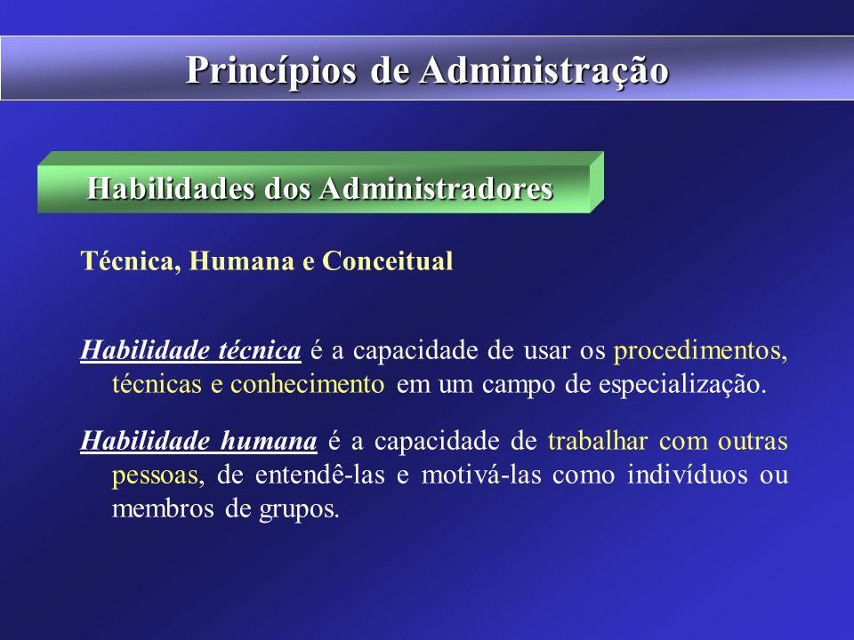 Princípios de Administração Habilidades dos Administradores