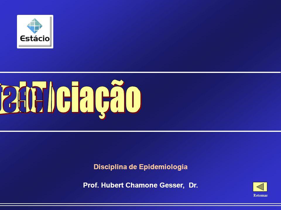 Disciplina de Epidemiologia Prof. Hubert Chamone Gesser, Dr.