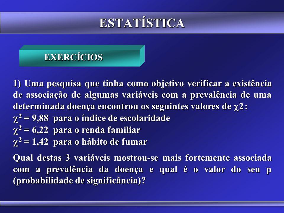 ESTATÍSTICA 2 = 9,88 para o índice de escolaridade