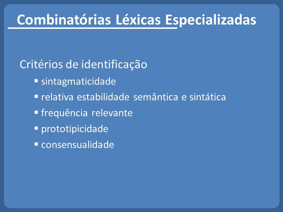 Combinatórias Léxicas Especializadas