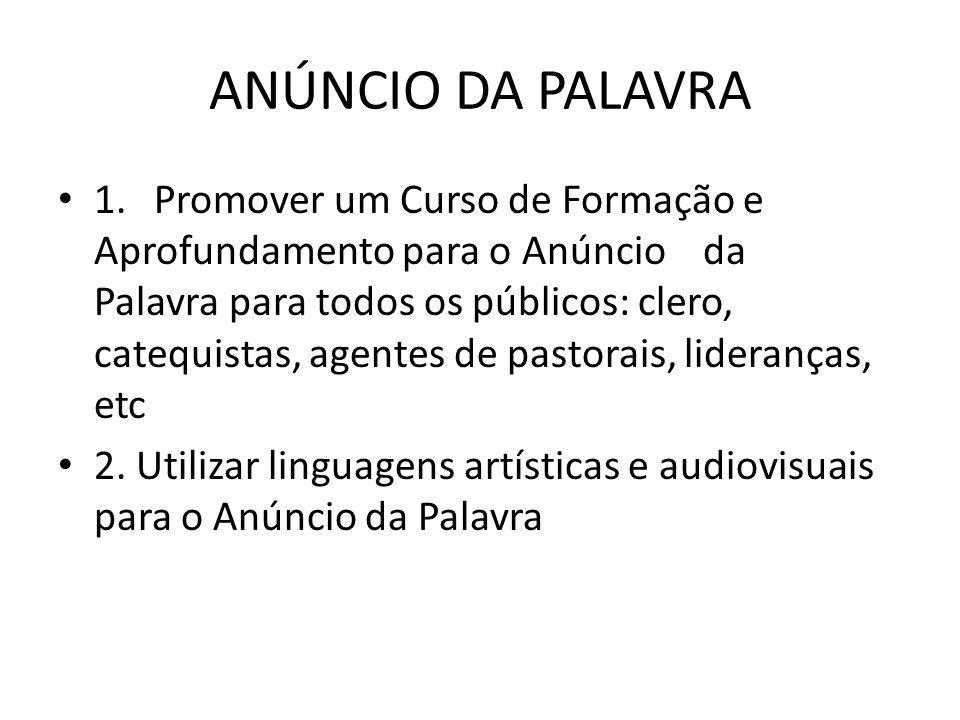 ANÚNCIO DA PALAVRA