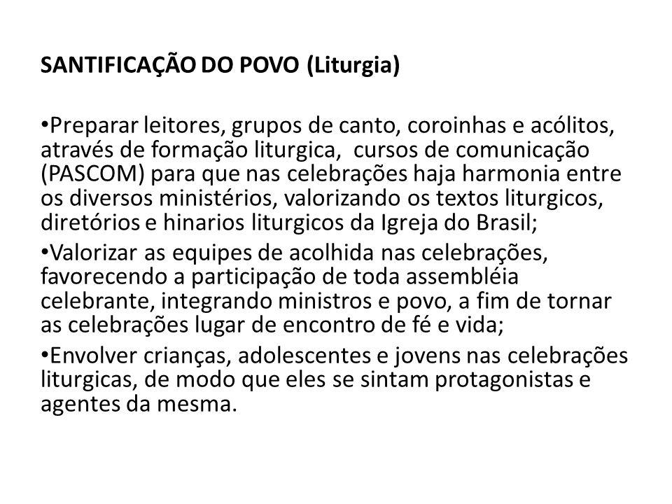 SANTIFICAÇÃO DO POVO (Liturgia)