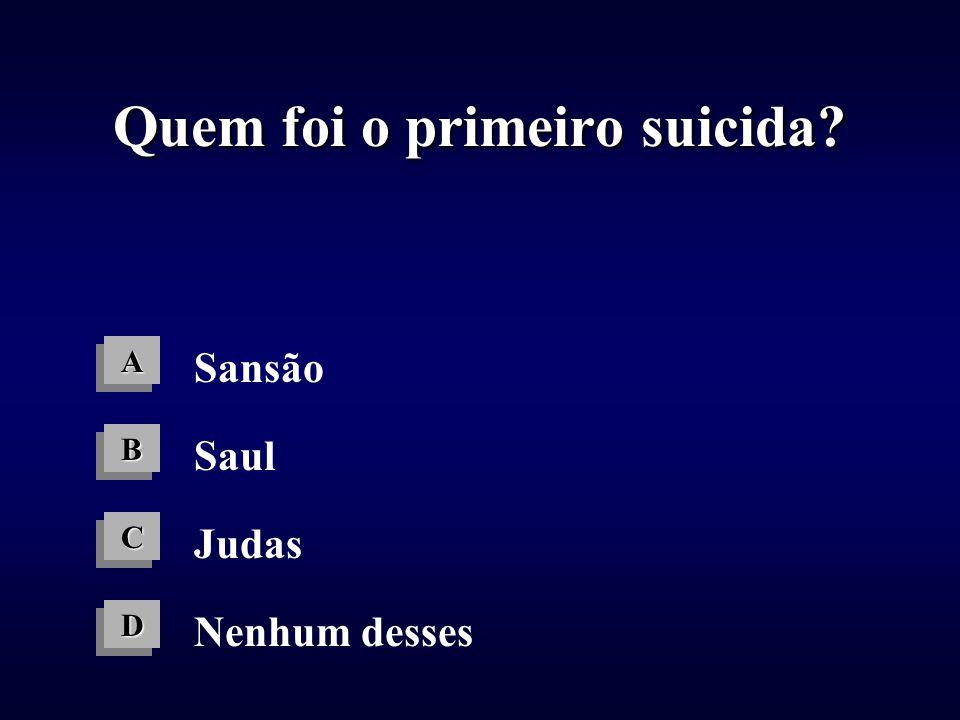 Quem foi o primeiro suicida