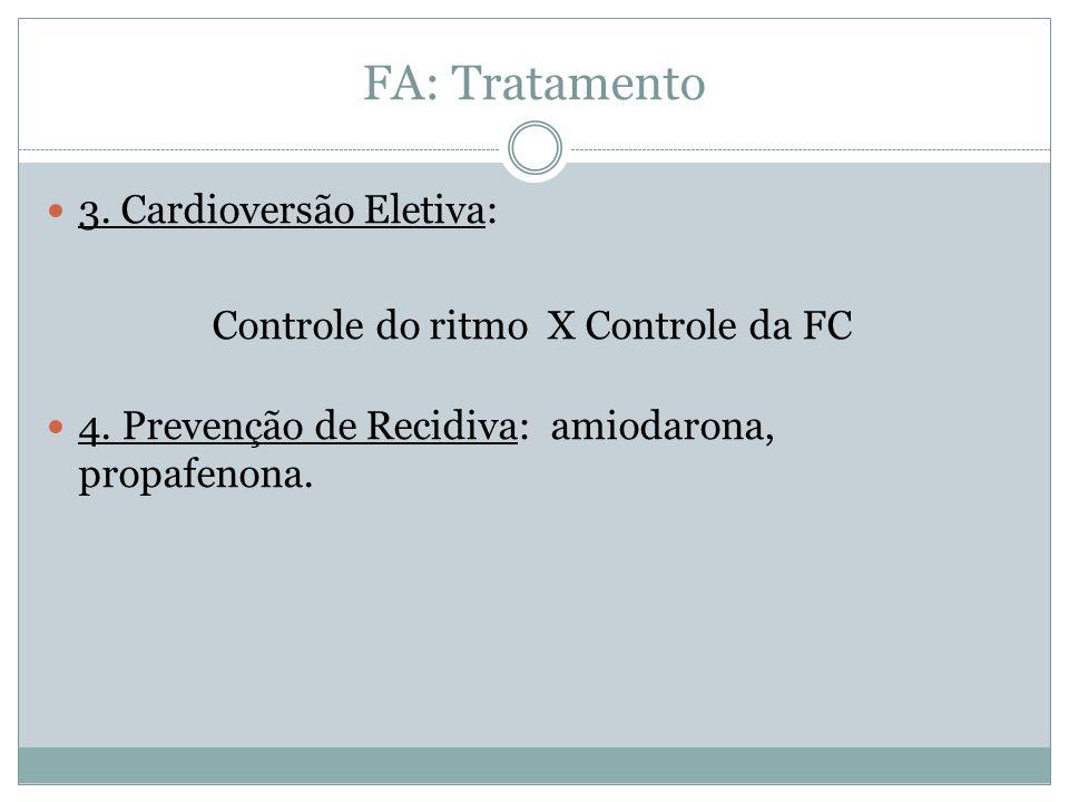 Controle do ritmo X Controle da FC
