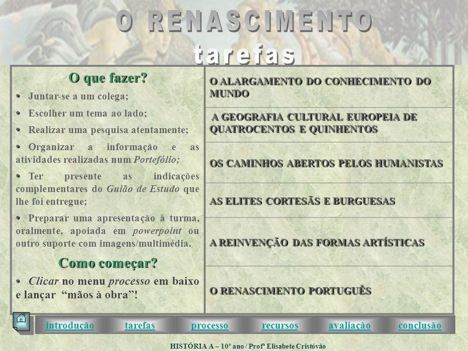 HISTÓRIA A – 10º ano / Profª Elisabete Cristóvão