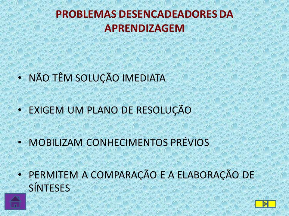 PROBLEMAS DESENCADEADORES DA APRENDIZAGEM