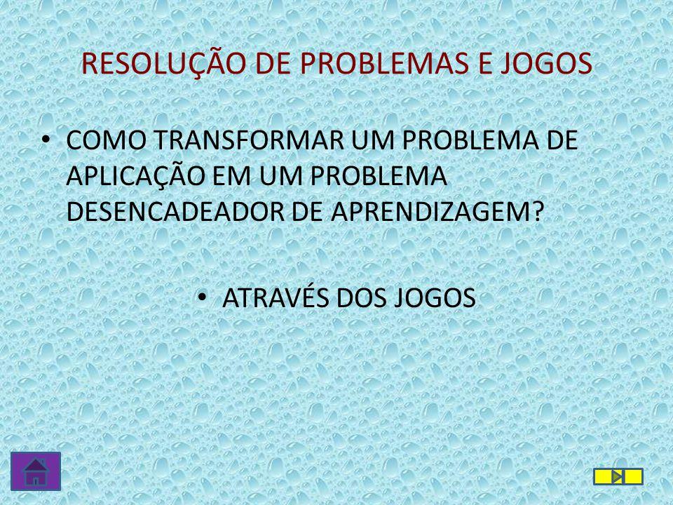 RESOLUÇÃO DE PROBLEMAS E JOGOS