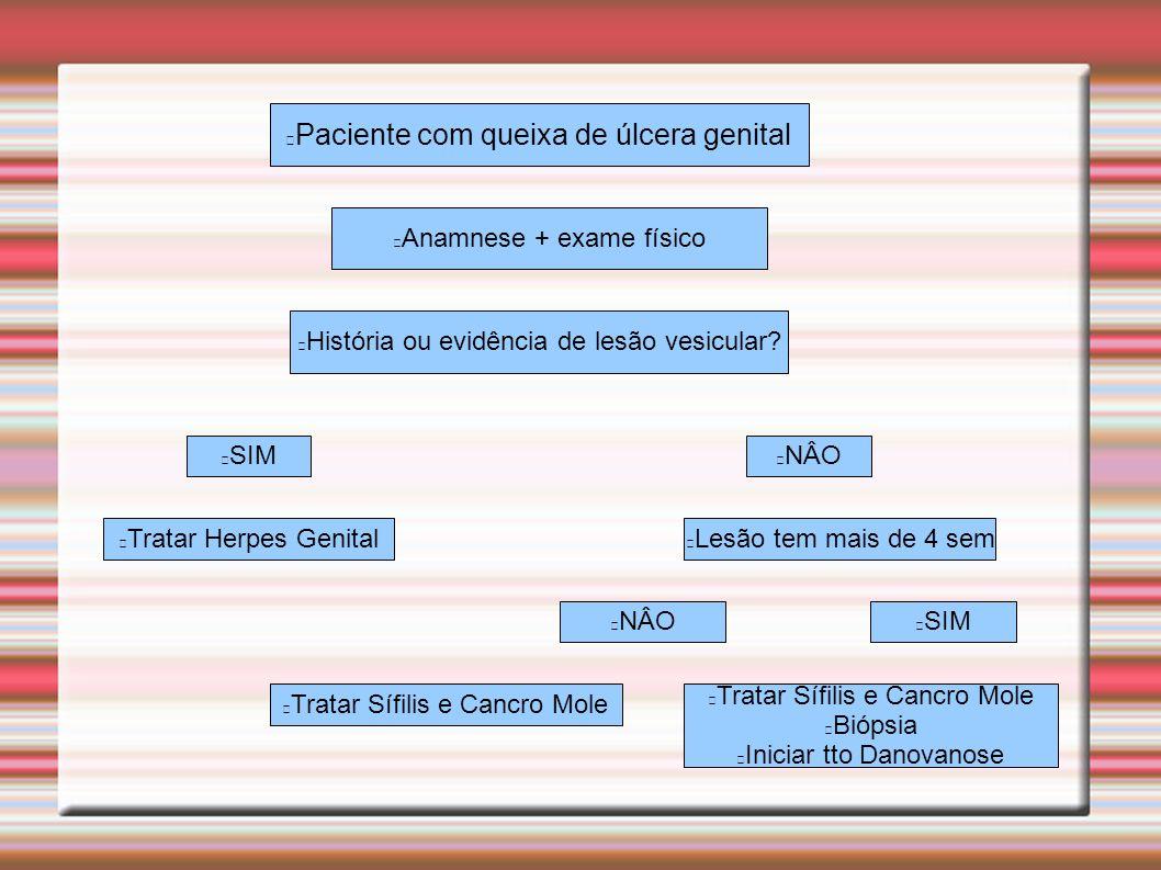 Paciente com queixa de úlcera genital